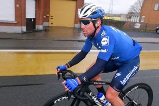 NOKERE BELGIUM MARCH 17 Mark Cavendish of United Kingdomand Team Deceuninck QuickStep during the 75th Nokere Koerse Danilith Classic 2021 Mens Elite a 1955km race from Deinze to Nokere Rain NokereKoerse on March 17 2021 in Nokere Belgium Photo by Luc ClaessenGetty Images