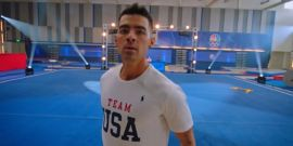 See Joe Jonas Attempt An Olympics Gymnastic Floor Routine In Only A Way A Jonas Brother Could