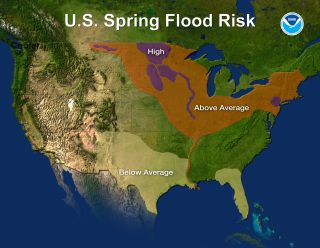 The U.S. spring flood risk map for 2011