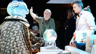 Brian Henson on the Earth to Ned set.