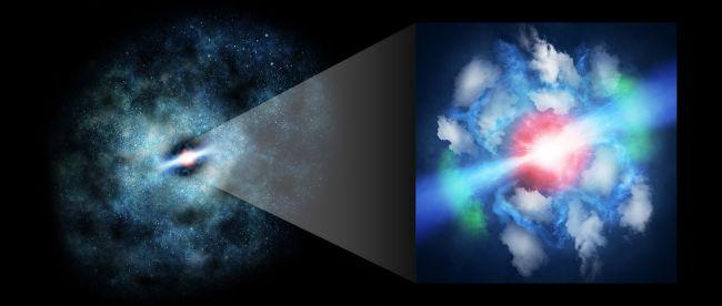 Los astrónomos detectan los efectos antiguos de los chorros de un agujero negro supermasivo