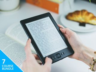 Photo of a person holding an eBook
