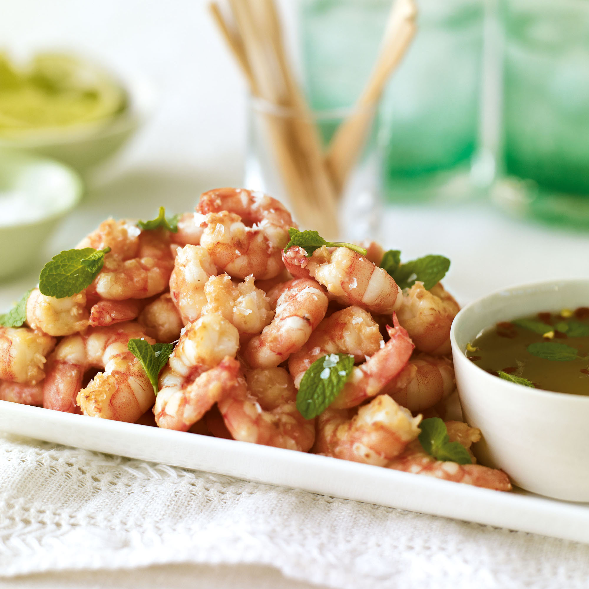 Pan fried king prawns with thai dipping sauce forumfinder Images