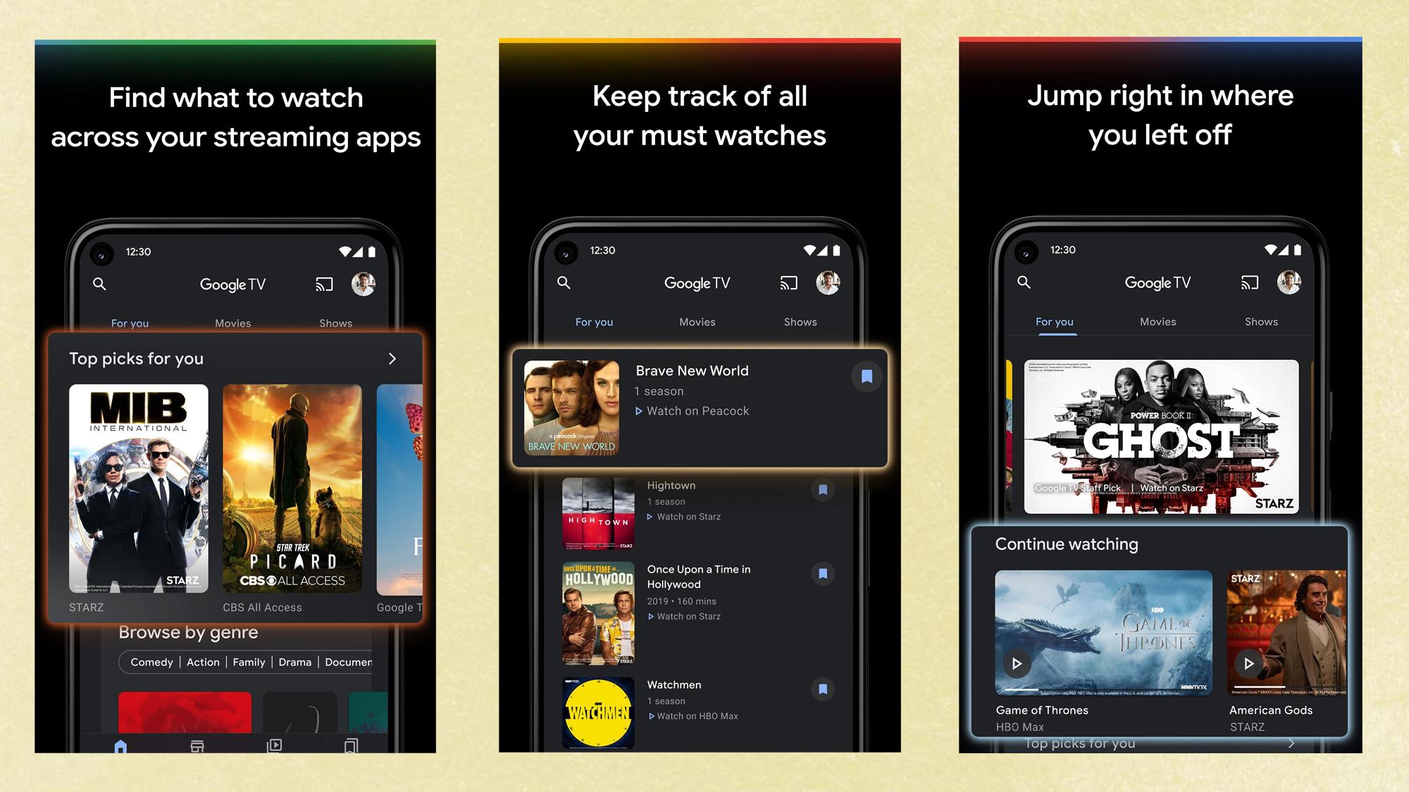 Google TV app