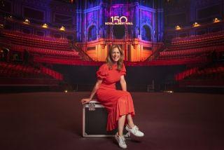 Proms presenter Katie Derham, at the Royal Albert Hall.
