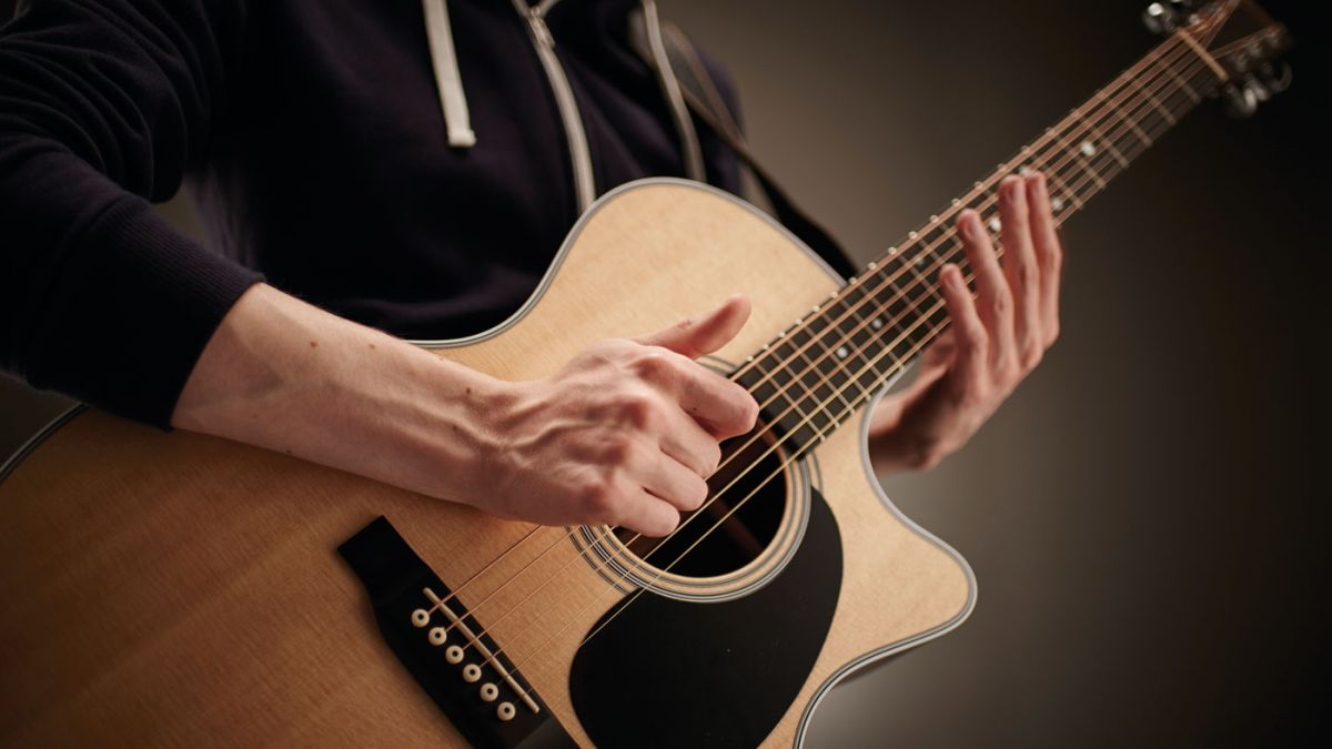 how to play percussive acoustic guitar musicradar. Black Bedroom Furniture Sets. Home Design Ideas