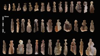 Archaeologists now think the Neolithic flint artifacts found at Kharaysin in Jordan are the earliest-known portrayals of real human beings in the Near East.