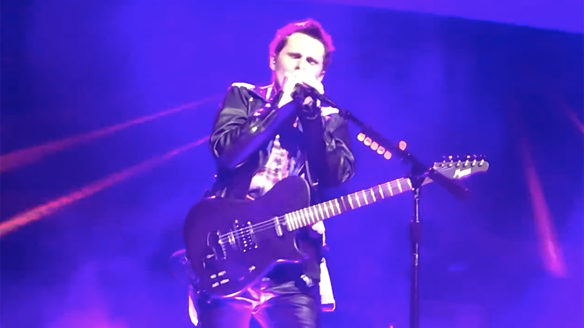 Matt Bellamy has an Arturia Prophet V synth built into his guitar, courtesy of Fishman and Mind Music Labs | MusicRadar
