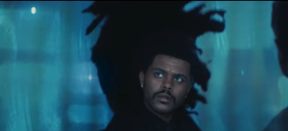 The Weeknd from Pepsi's halftime show ad.