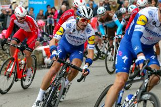 Deceuninck-QuickStep's Julian Alaphilippe at the 2020 Drome Classic, where the Frenchman finished 17th
