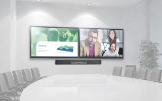 Crestron Launches Flex B100 Smart UC Soundbar