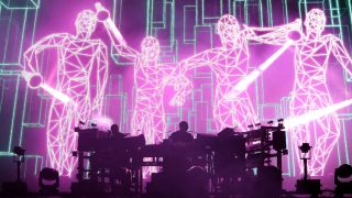 Chemical Brothers on stage