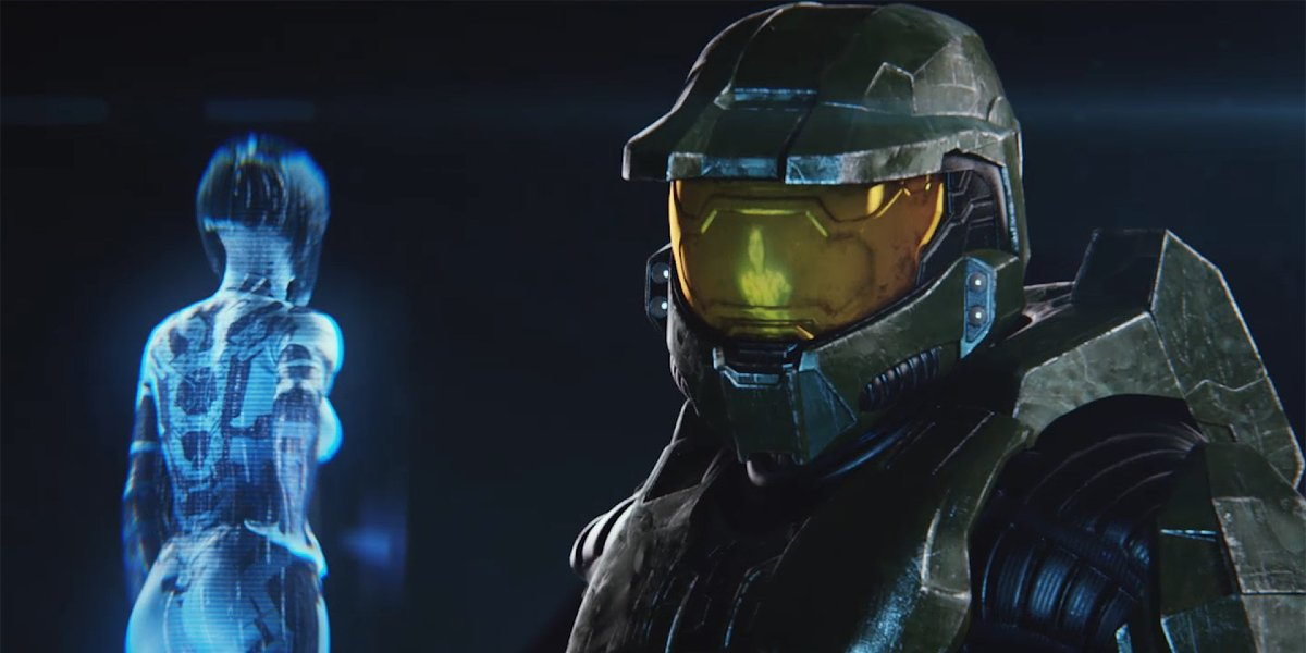 Cortana and Master Chief in Halo: The Master Chief Edition