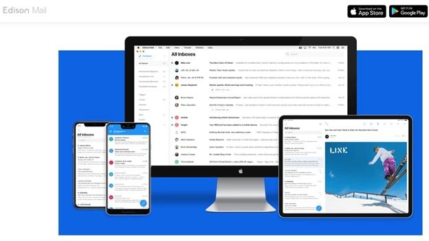 Edison Mail's app homepage