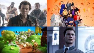 Solo: A Star Wars Story, Arrested Development Season 5, PixelJunk Monsters 2, Detroit: Become Human