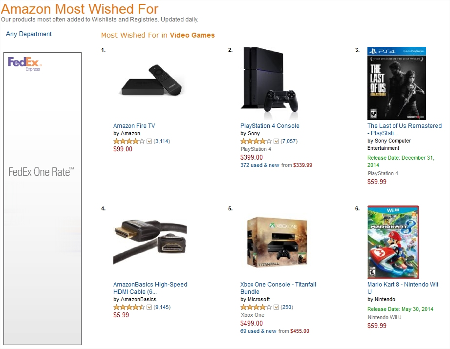 mario kart 8 is one of amazon s most wished for gaming products