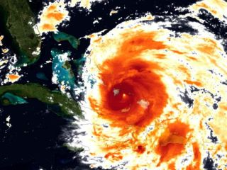 Eye of Hurricane Irene