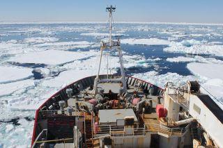 Antarctica research ship