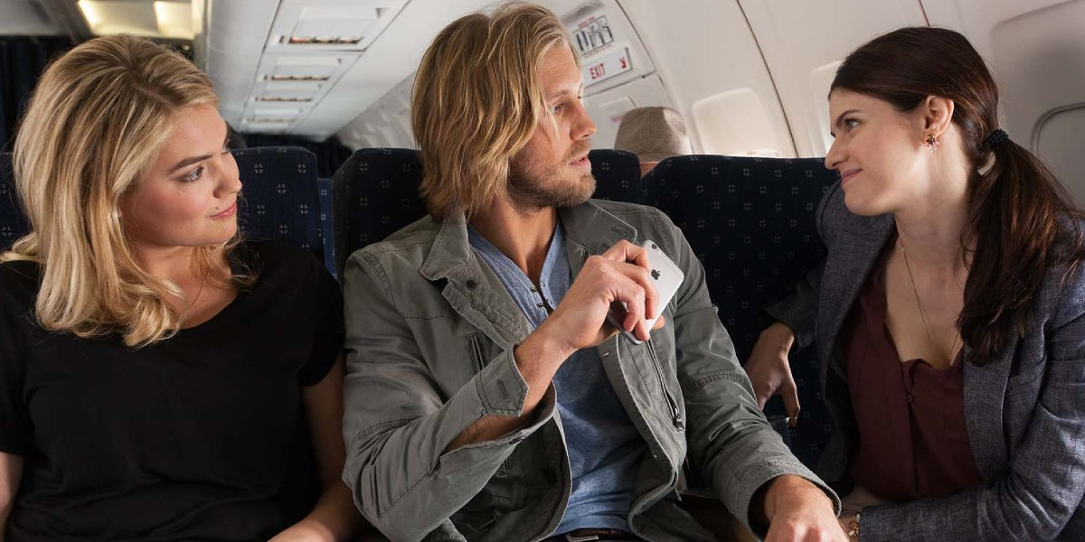 Kate Upton, Matt Barr, and Alexandra Daddario in The Layover