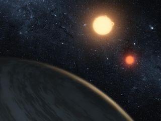 Kepler 16b Artist's Impression