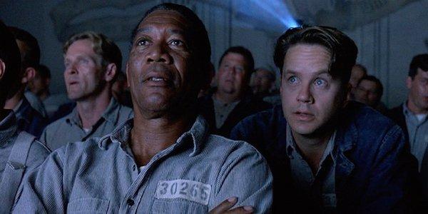 The movie scene from Shawshank