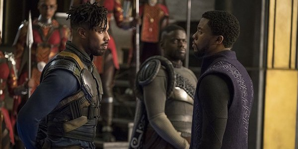 T'Challa and Killmonger in Black Panther