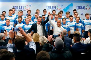 CanadianIsraeli billionaire Sylvan Adams CR introduces the new Startup Nation team for the Tour de France on December 11 2019 in Tel Aviv Israel launched its first Tour de France team the latest sporting initiative funded by the CanadianIsraeli billionaire who sees it as a potential bridge to the Arab world The team called Israel StartUp Nation will be the first from the Jewish state to compete in cyclings premier competition The team will take the Tour de France slot of Swiss team KatushaAlpecin which has been taken over by the Israel Cycling Academy ICA Photo by JACK GUEZ AFP Photo by JACK GUEZAFP via Getty Images