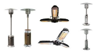 Range of patio heaters from Fire Sense and AZ Patio Heaters