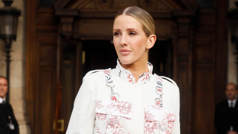 Ellie Goulding wearing Stella McCartney outside Stella McCartney during Paris Fashion Week Womenswear Spring Summer 2020 on September 30, 2019 in Paris