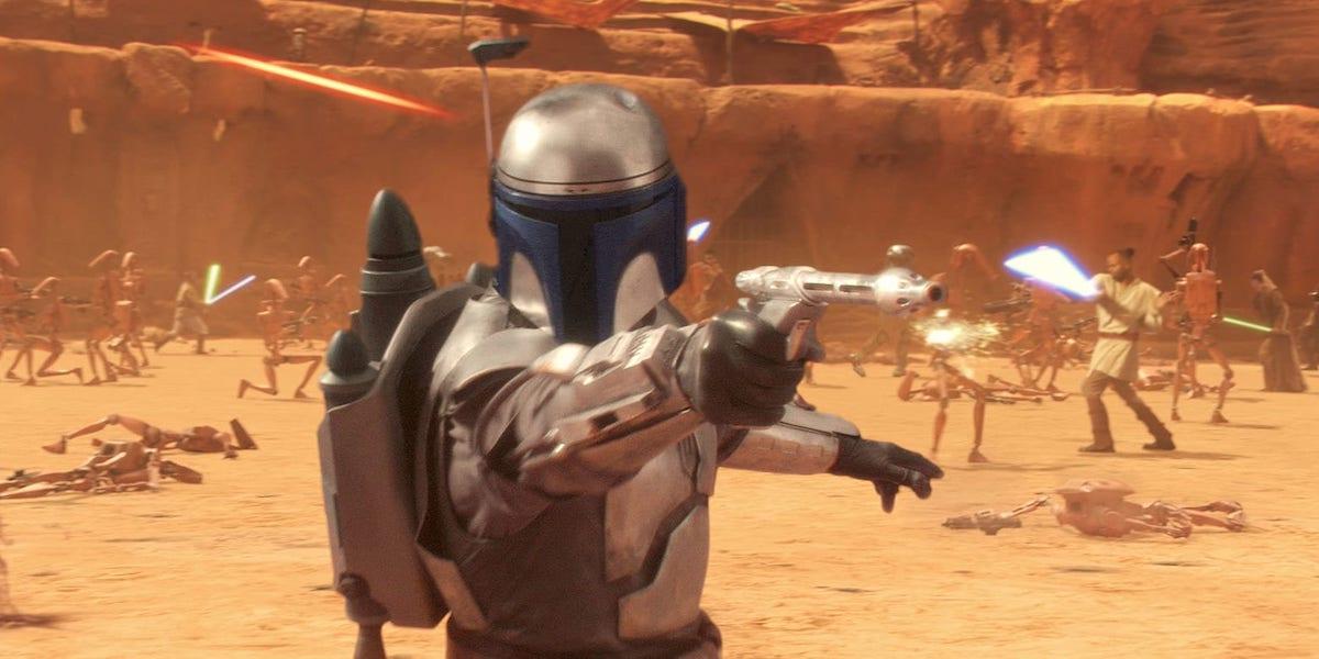 Jango Fett in Star Wars: Episode II - Attack of the Clones