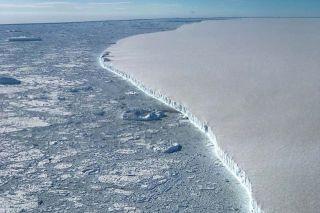 The Larsen C ice shelf.