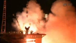 A Russian Soyuz rocket launches three new crewmembers for the International Space Station from Baikonur Cosmodrome in Kazakhstan early on Friday, Sept. 26, 2014 local time. Riding on the Soyuz were NASA astronaut Butch Wilmore and Russian cosmonauts Alexa