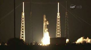SpaceX's Falcon 9 rocket launches from Florida's Cape Canaveral Air Force Station on Jan. 10, 2014, sending the company's unmanned Dragon cargo capsule toward the International Space Station for NASA.