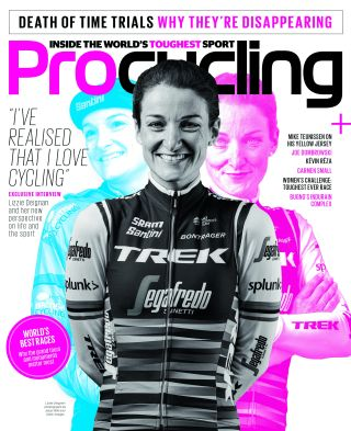 Lizzie Deignan on the cover of Procycling