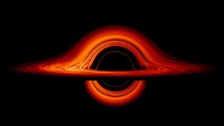 """A black hole's """"blanets"""" would orbit light years away from the hot center illustrated here."""