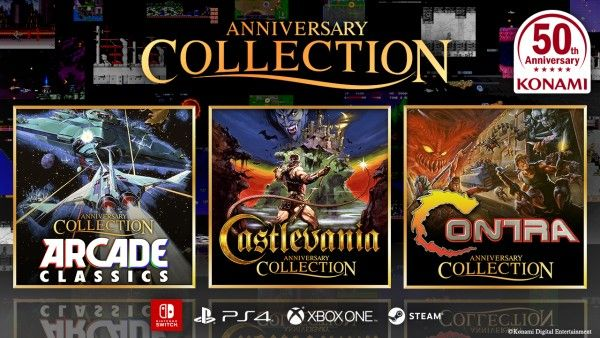 Castlevania, Contra, and Konami arcade collections are coming to all platforms this summer