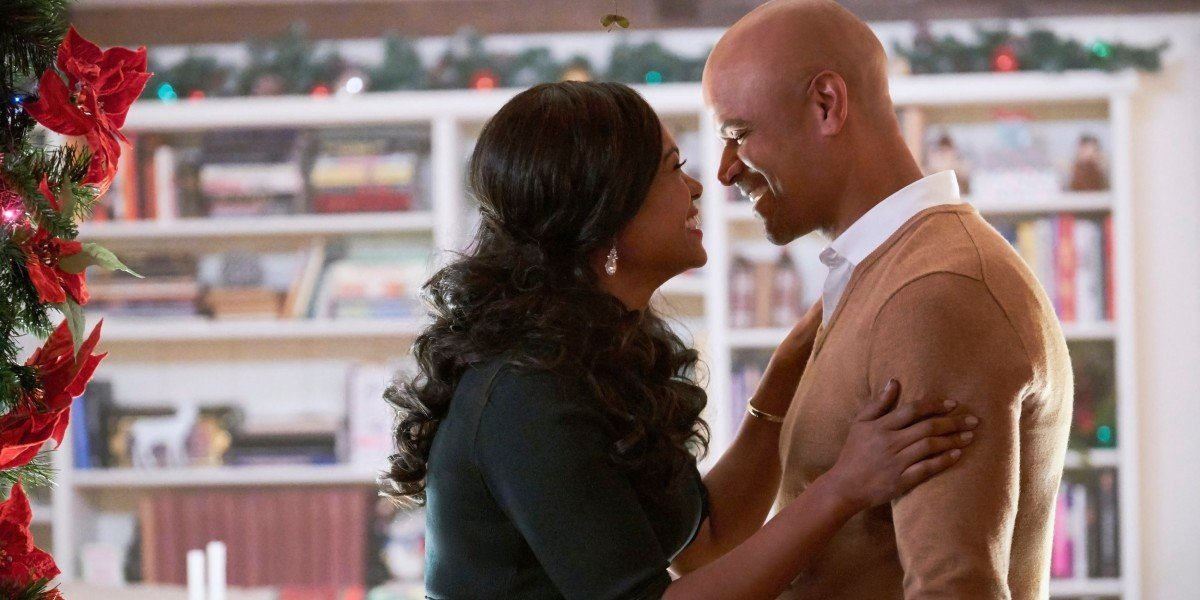Tatyana Ali and Dondre T. Whitfield in Christmas Everlasting