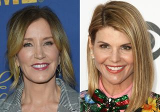 Actresses Felicity Huffman (left) and Lori Loughlin (right) are among 50 people indicted in a nationwide university admissions bribery scandal.