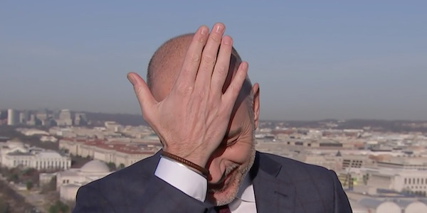 Matt Lauer facepalm on live TV
