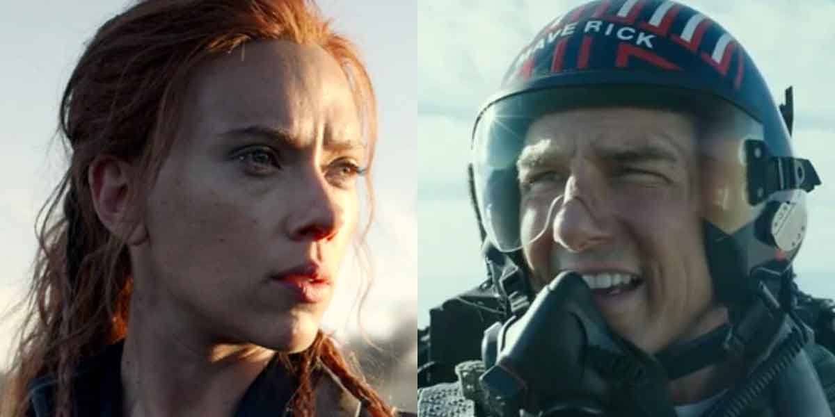 Tom Cruise and Scarlett Johansson In Top Gun And Black Widow respectively.