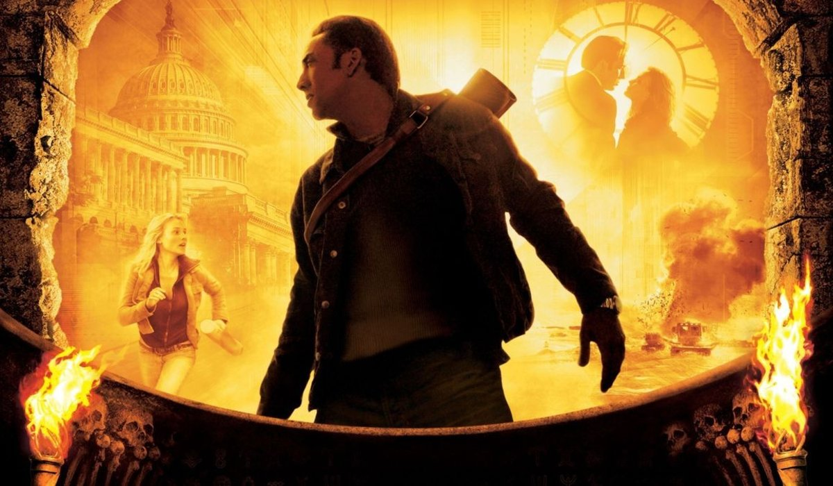 National Treasure Nicolas Cage stands in the middle of action images
