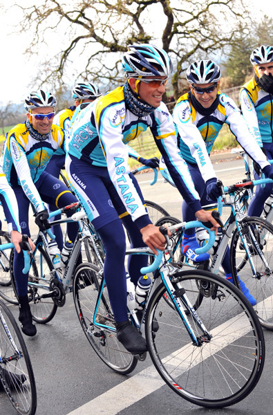 Alberto Contador Astana training camp Santa Rosa California 2009
