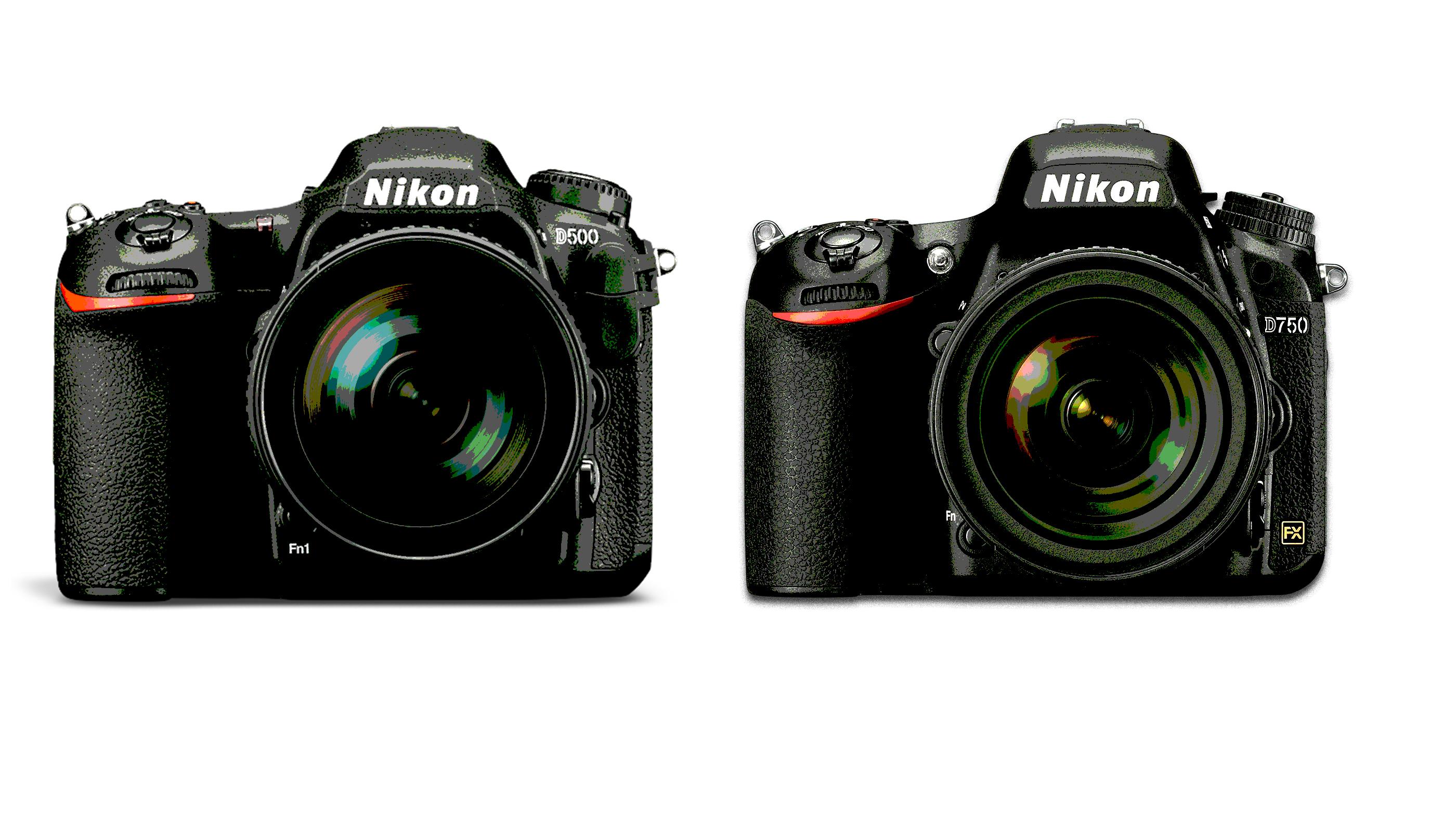 Nikon D500 vs Nikon D750