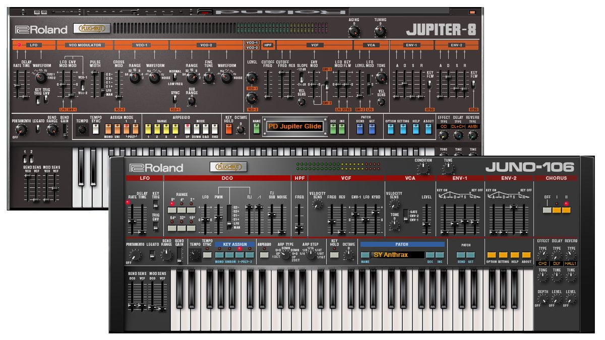 you can now download vst au jupiter 8 and juno 106 plugins from the roland cloud musicradar. Black Bedroom Furniture Sets. Home Design Ideas