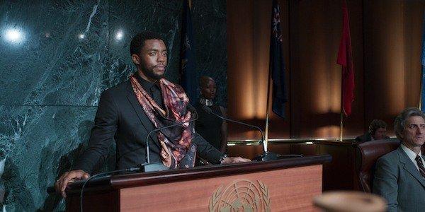Black Panther T'Challa Chadwick Boseman Press conference