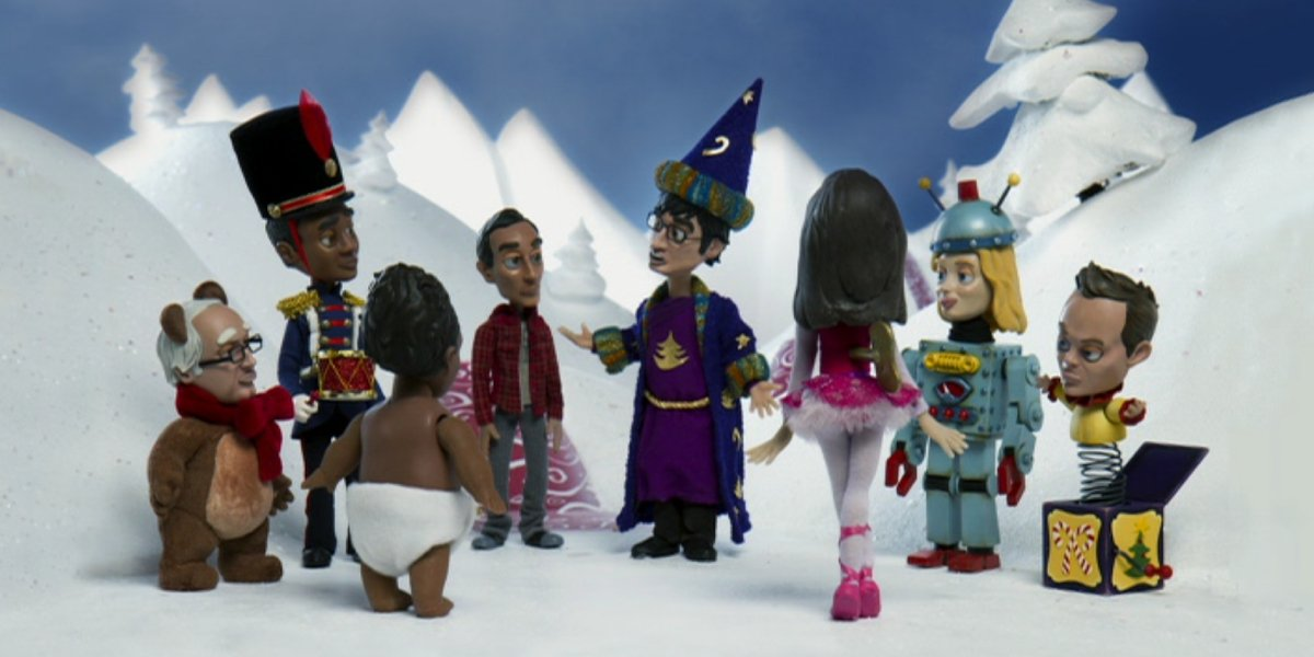 """The cast of Community get stop-motion animated for """"Abed's Uncontrollable Christmas"""""""