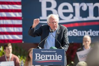 Democratic presidential candidate, Vermont Sen. Bernie Sanders speaks at a campaign event at Plymouth State University on Sept. 29, 2019, in Plymouth, New Hampshire.