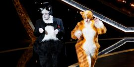 Rebel Wilson And James Corden Spoofed Cats At The Oscars And Wow