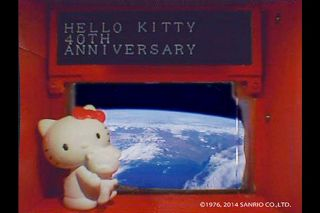 Hello Kitty in Space: Japan's iconic mouthless cat is riding aboard the small satellite Hodoyoshi 3 and will beam messages from space as part of a 40th anniversary celebration by Sanrio Co., Ltd.