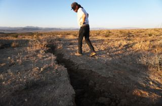 crack that opened up in Earth after Ridgecrest quake